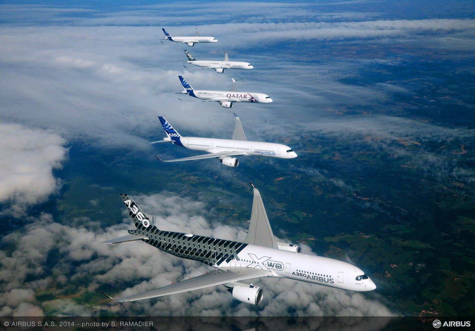 A350 XWB – Test aircraft formation flight 1
