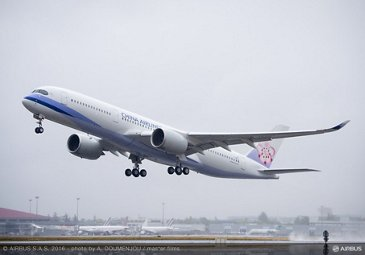 China Airlines' A350 XWB_first flight