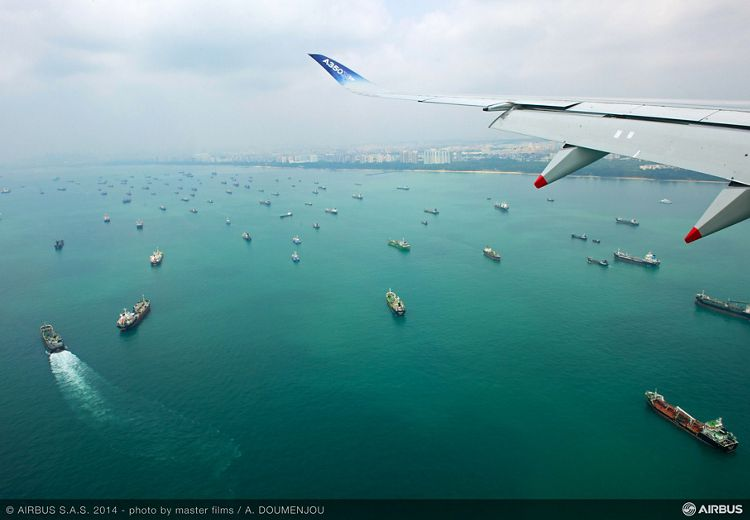 Singapore Airshow – A350 XWB departure 3