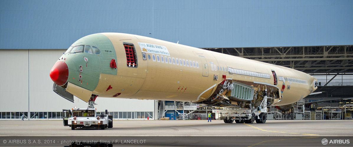 Vietnam Airlines' first A350 XWB enters final assembly