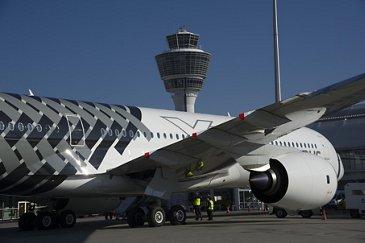 A350 XWB at Munich International Airport 2