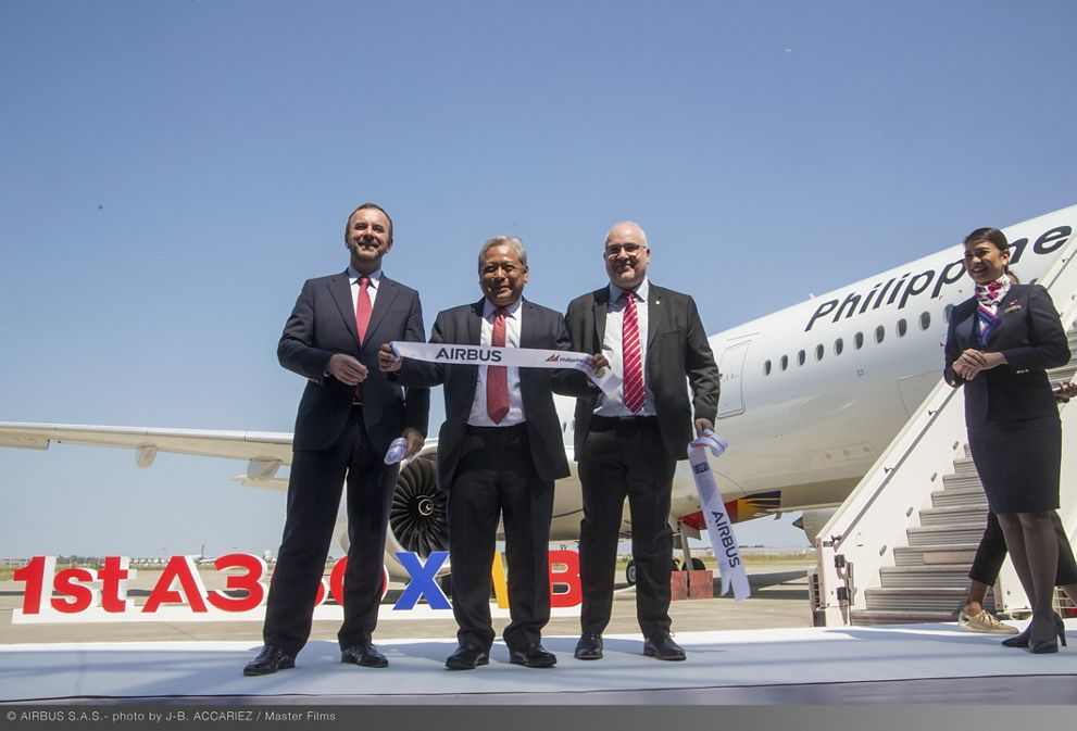 Philippine Airlines Takes Delivery Of Its First A350 900 Ribbon Cutting
