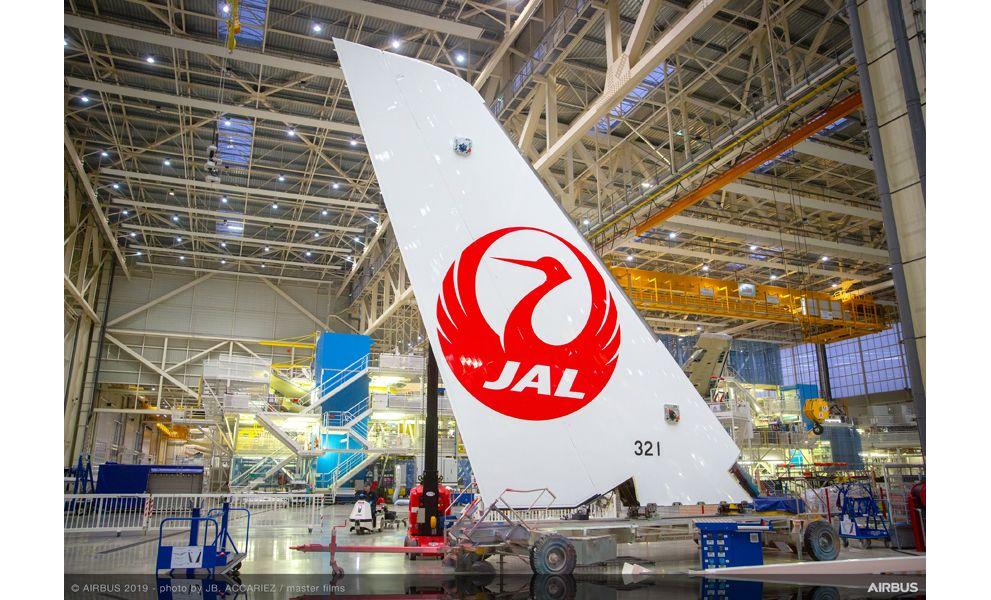 Ensamblaje del primer Airbus A350 de Japan Airlines.