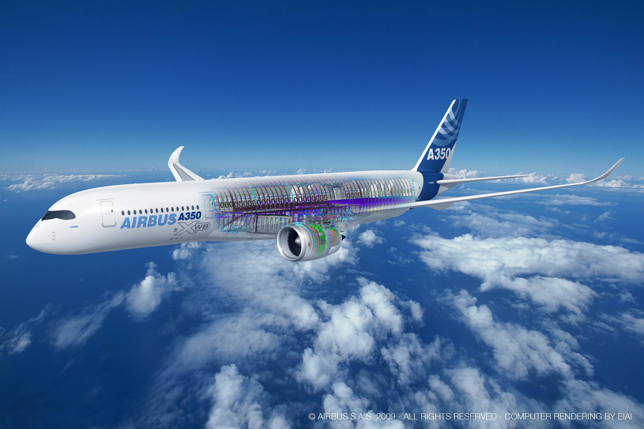 Airbus' A350 XWB jetliner has set the standard for next-generation efficiency from design to operation