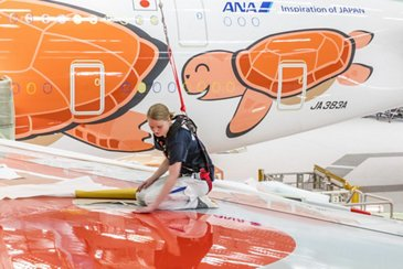 Third All Nippon Airways A380 – Painting