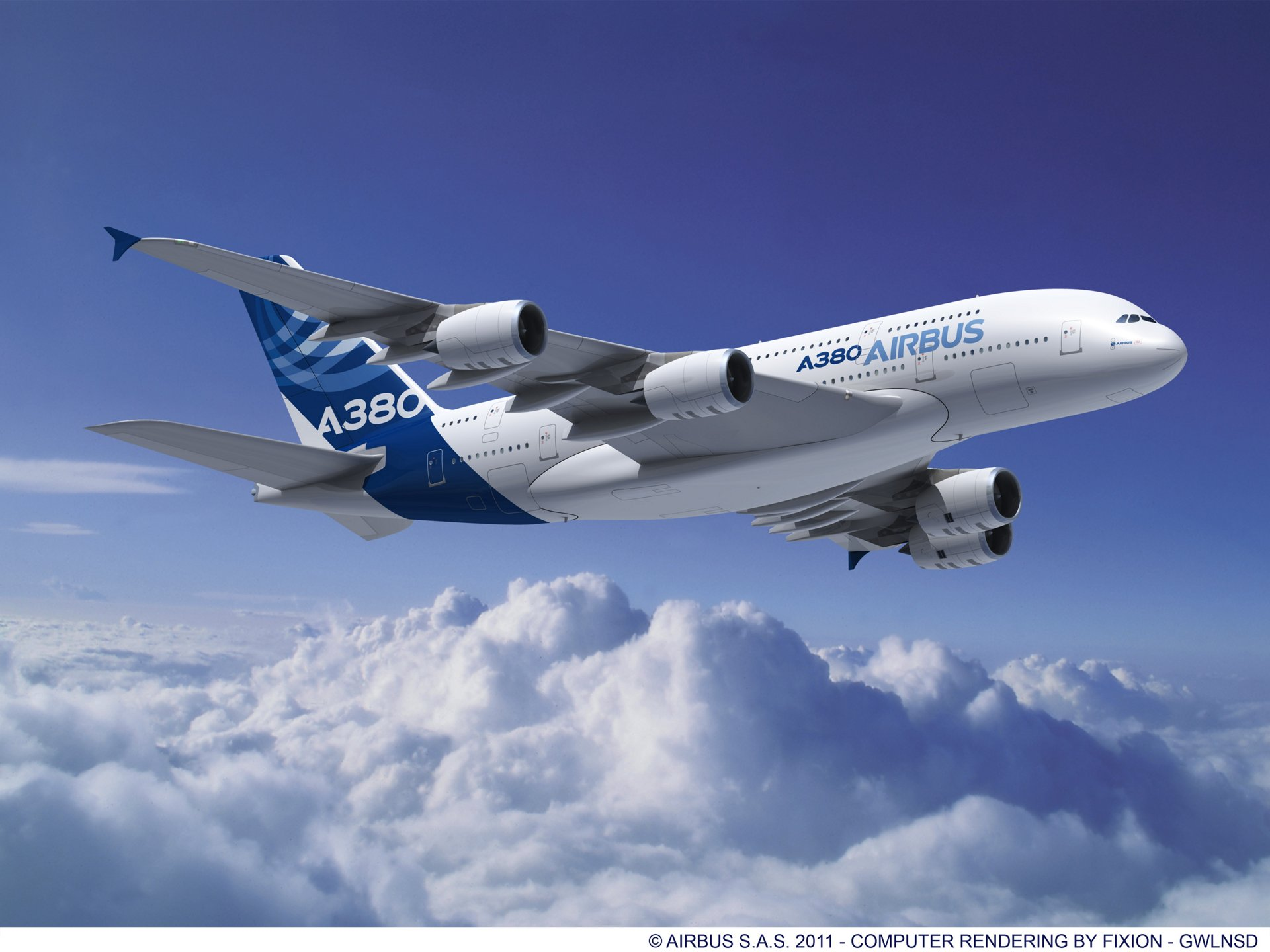 Airbus' 21st century flagship A380 – shown here outfitted with Rolls-Royce Trent 900 engines – is raising the bar for environmental standards with its low fuel consumption and noise levels, as well as reduced CO2 and NOx emissions.