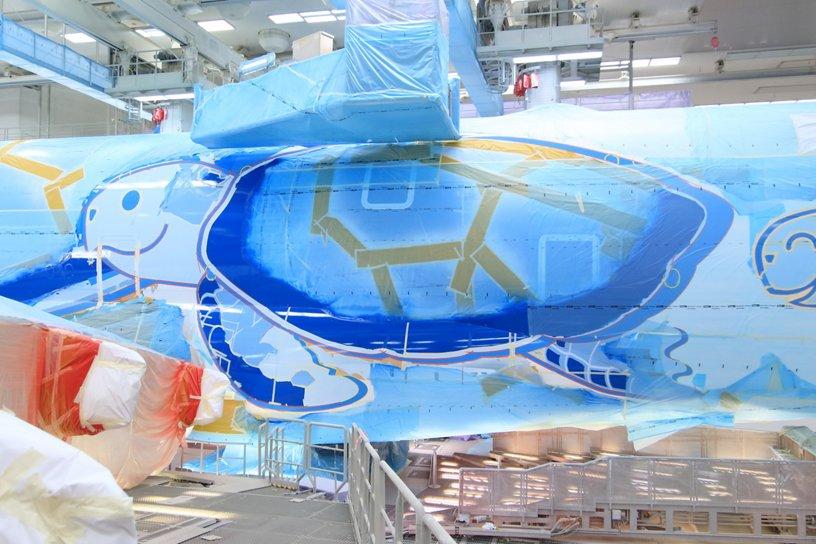 ANA鈥檚 Green Sea Turtle A380