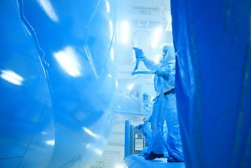 All Nippon Airways' A380 in the paint shop