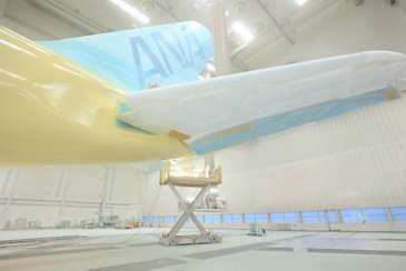 All Nippon Airways' first A380 paintwork