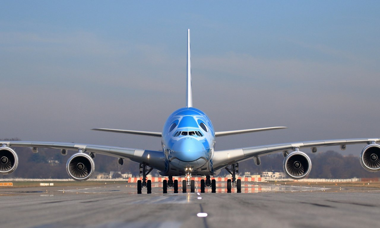 All Nippon Airways' A380 taxiing