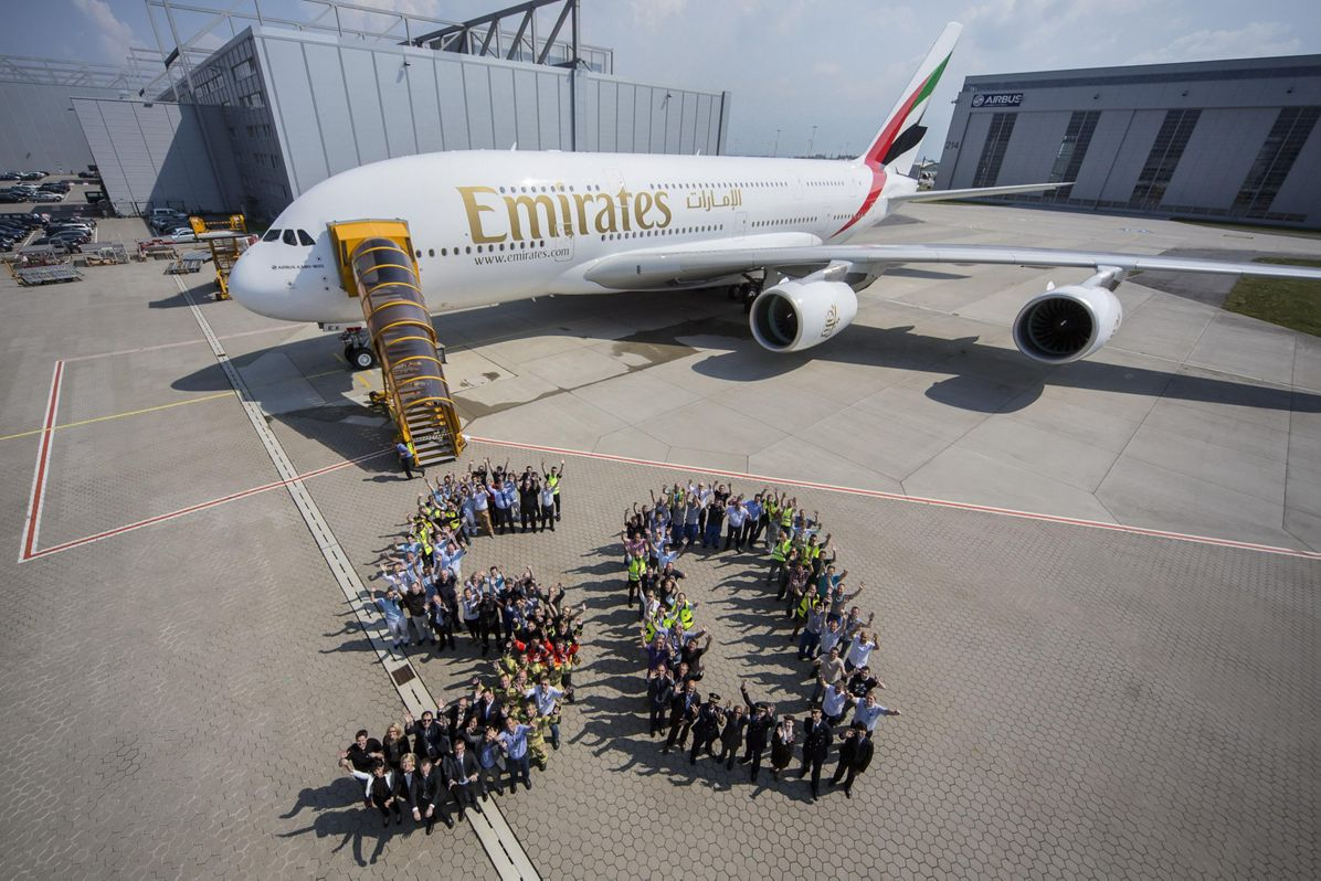 Emirates' 50th A380 2