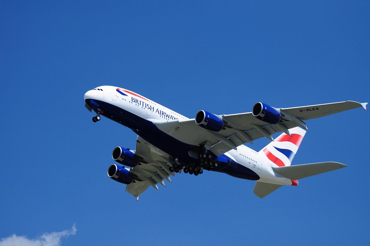A380_British Airways take-off