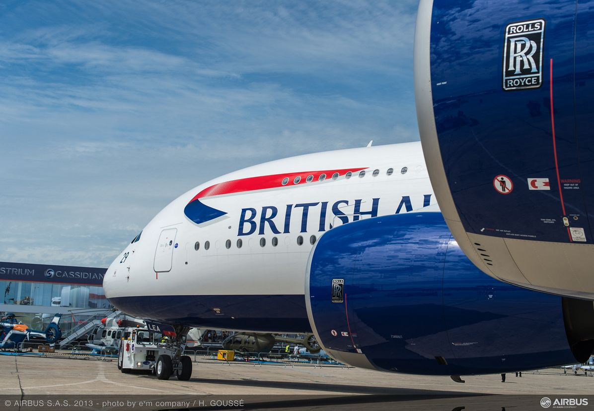 A380 BAW arrival