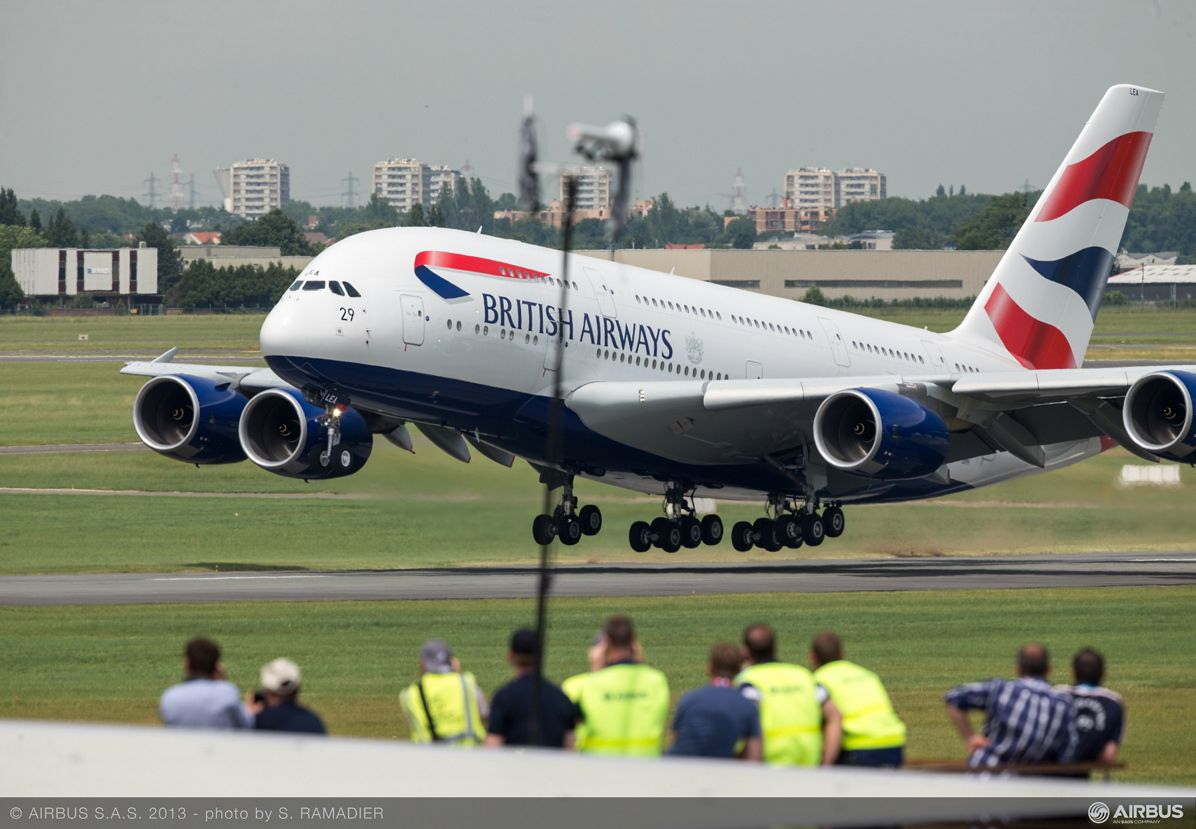 A380 BAW flight demo Tuesday 1