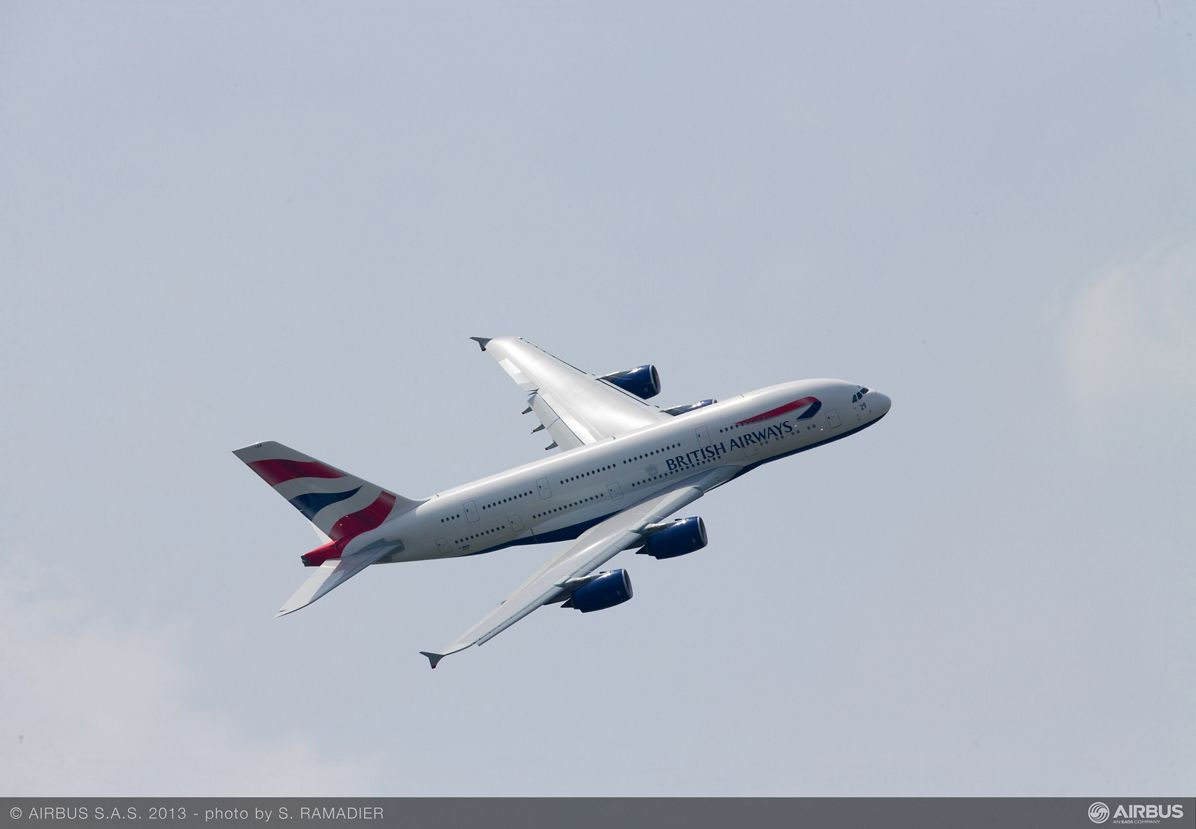A380 BAW flight demo Tuesday 5