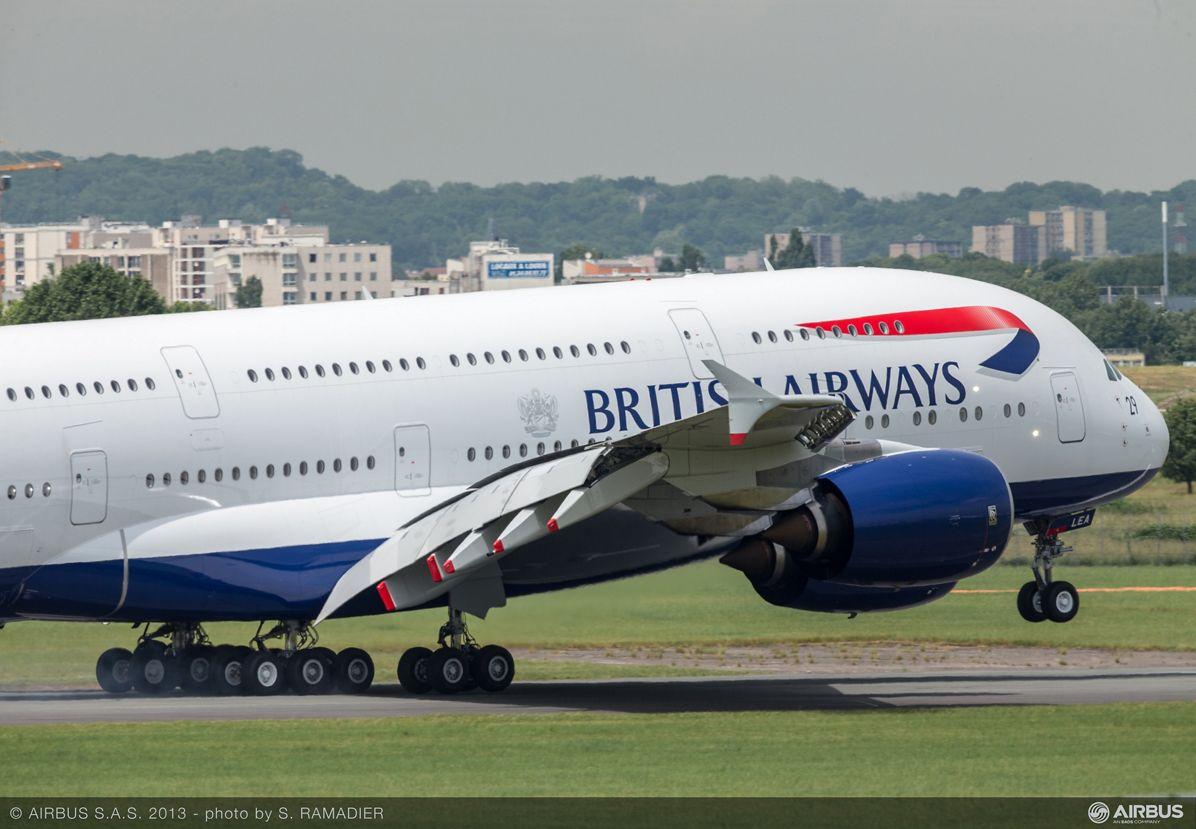 A380 BAW flight demo Tuesday 7
