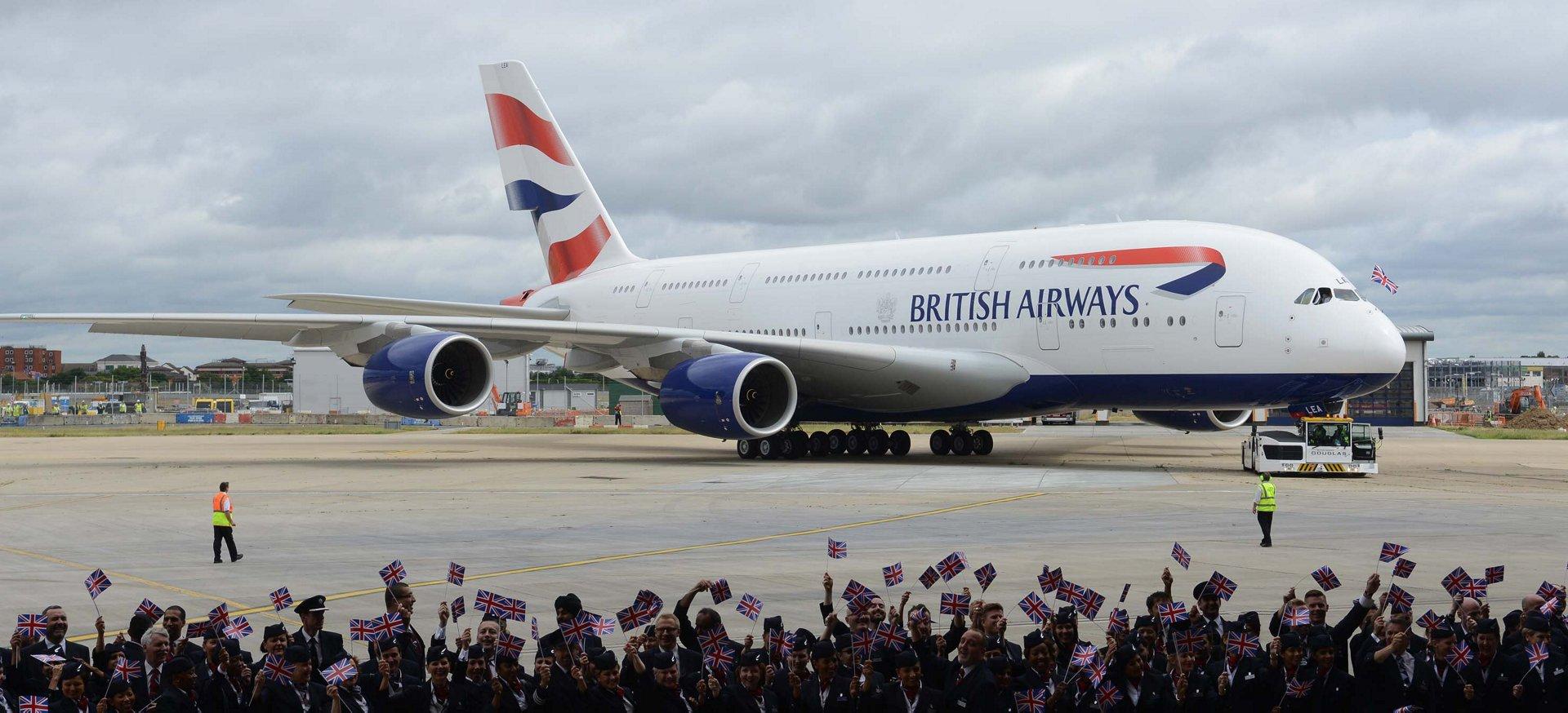A380 BAW london Heathrow arrival 1