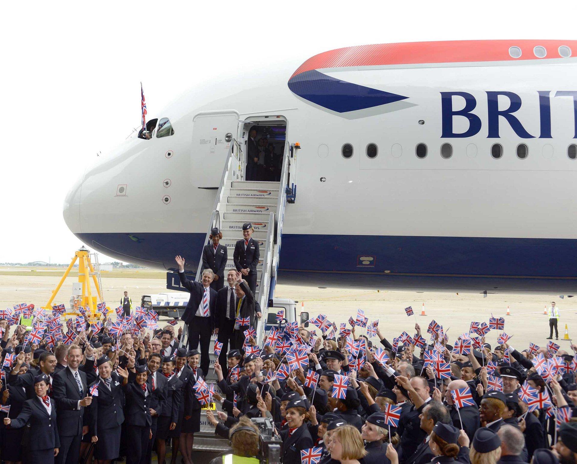 A380 BAW london Heathrow arrival 3