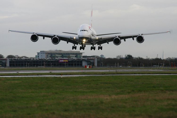 A380 BA Noise Quieter Flights British Airways 01