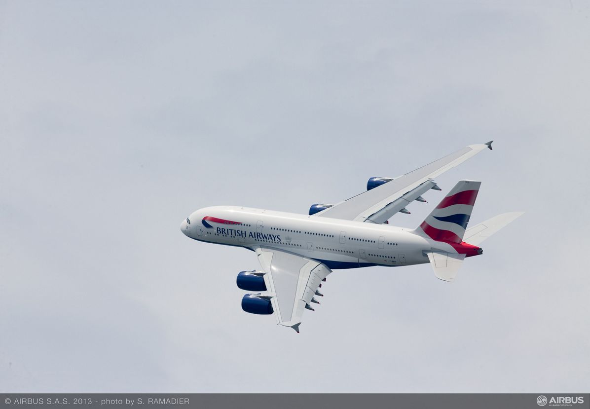 A380 British Airways flight demo Wed 19 - 2