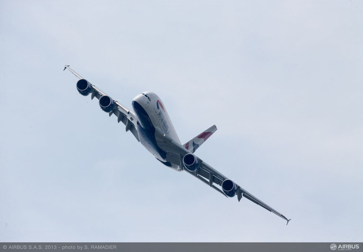 A380 British Airways flight demo Wed 19 - 3