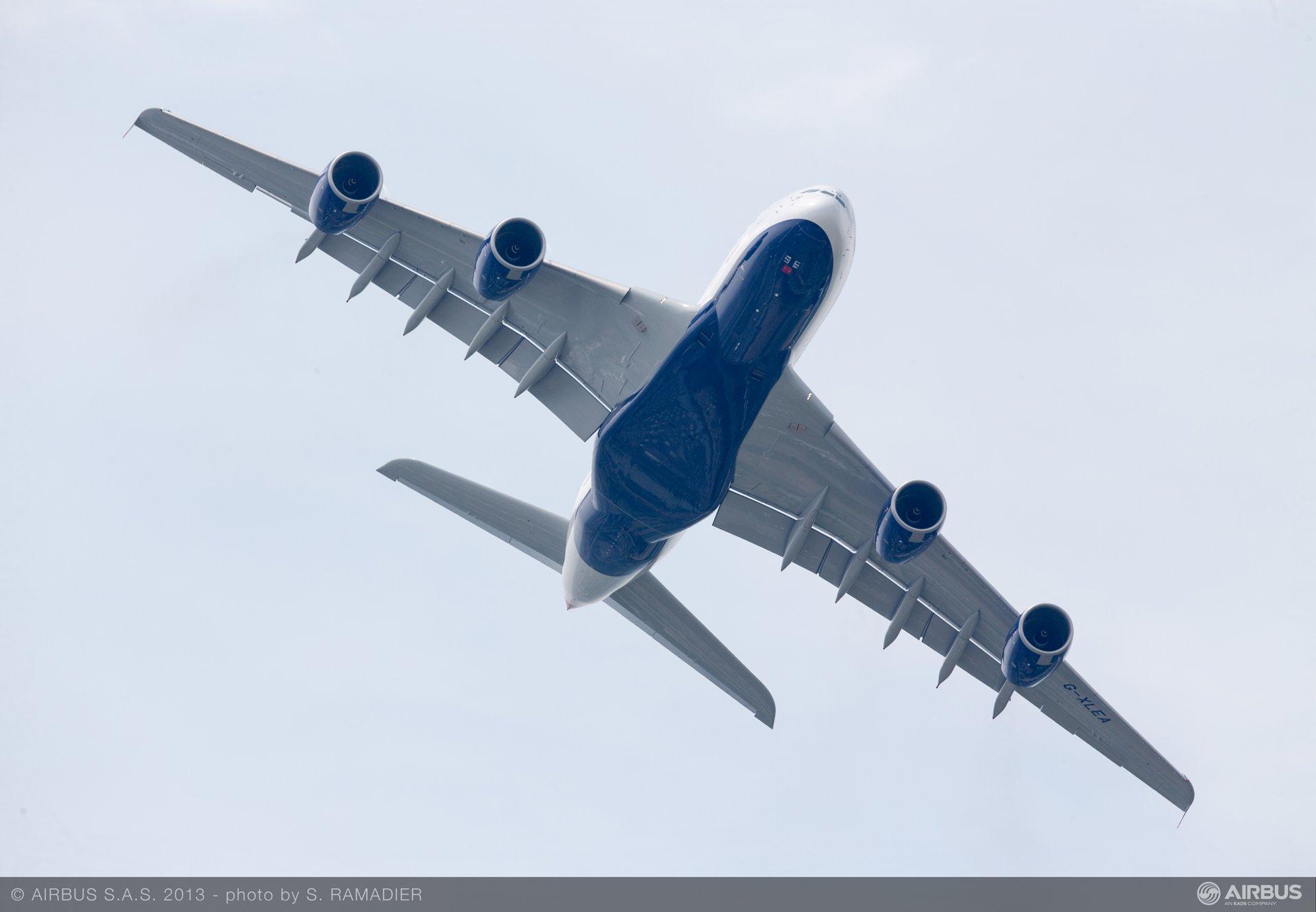 A380 British Airways flight demo Wed 19 - 4