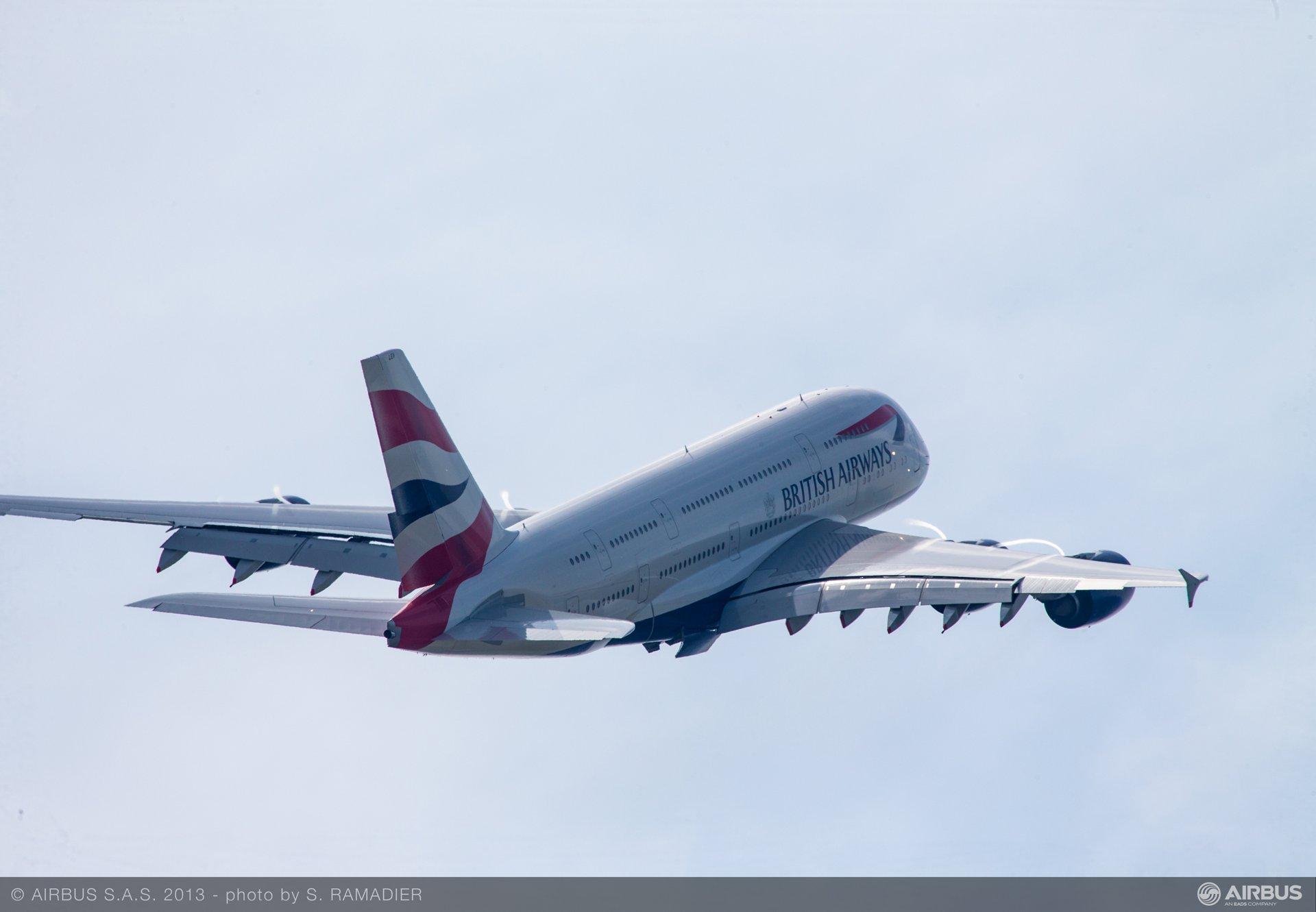 A380 British Airways flying demo