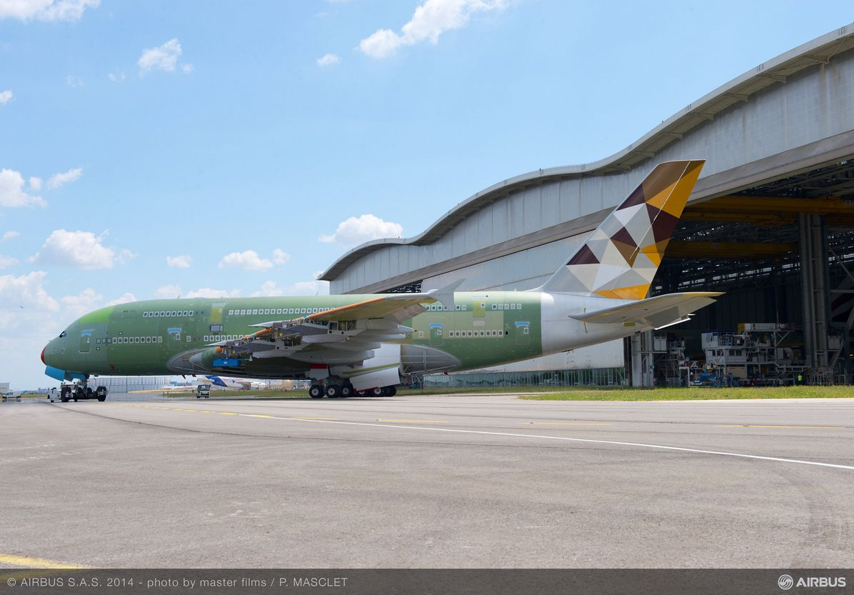 A380 Etihad - Final assembly line 4