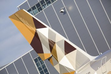 A380 Etihad - Tail close-up 1