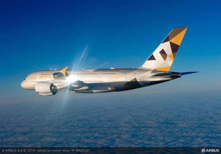 A380 Etihad In the air