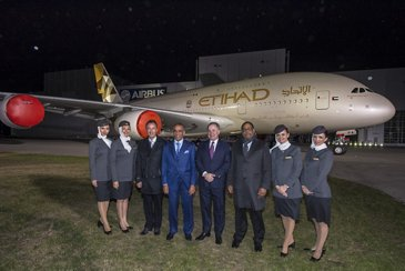 Etihad Airways A380 – Rollout 3
