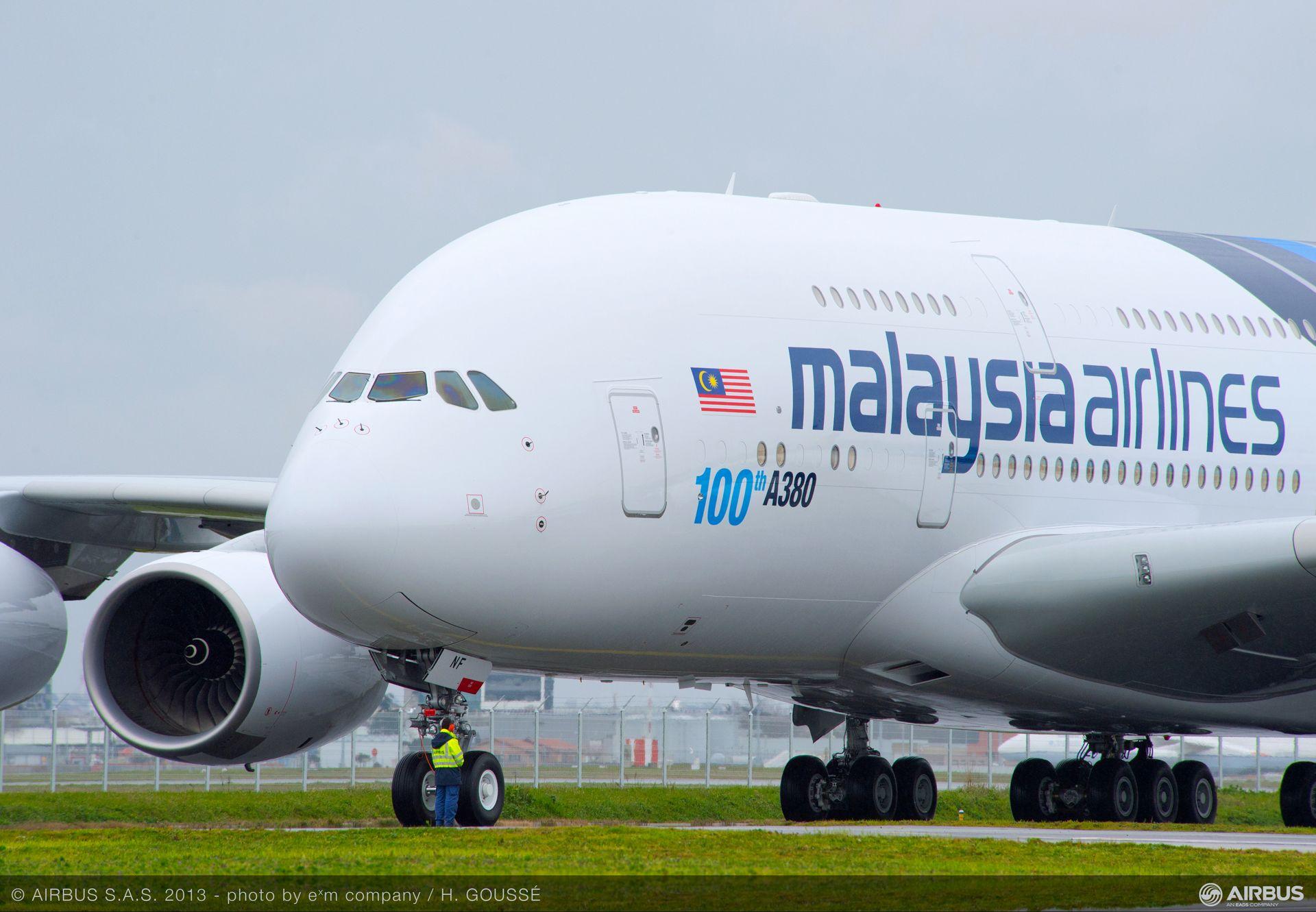 A380 MAS MSN114 ON GROUND
