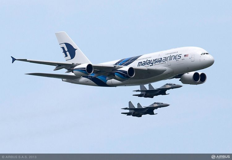 A380 MAS LIMA demo Flight