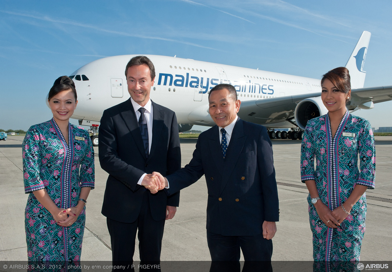 Malaysia Airlines takes delivery of its first A380