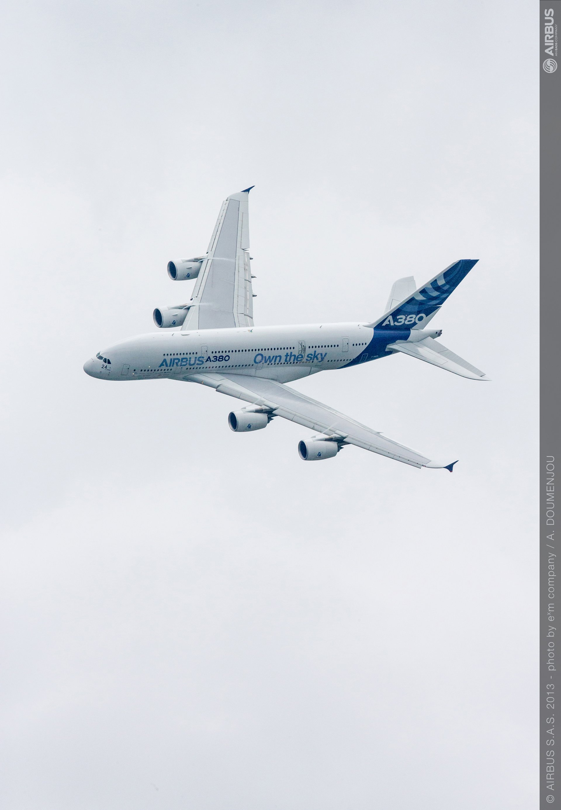 """The A380 """"owns the sky"""" at the 2013 Paris Air Show"""