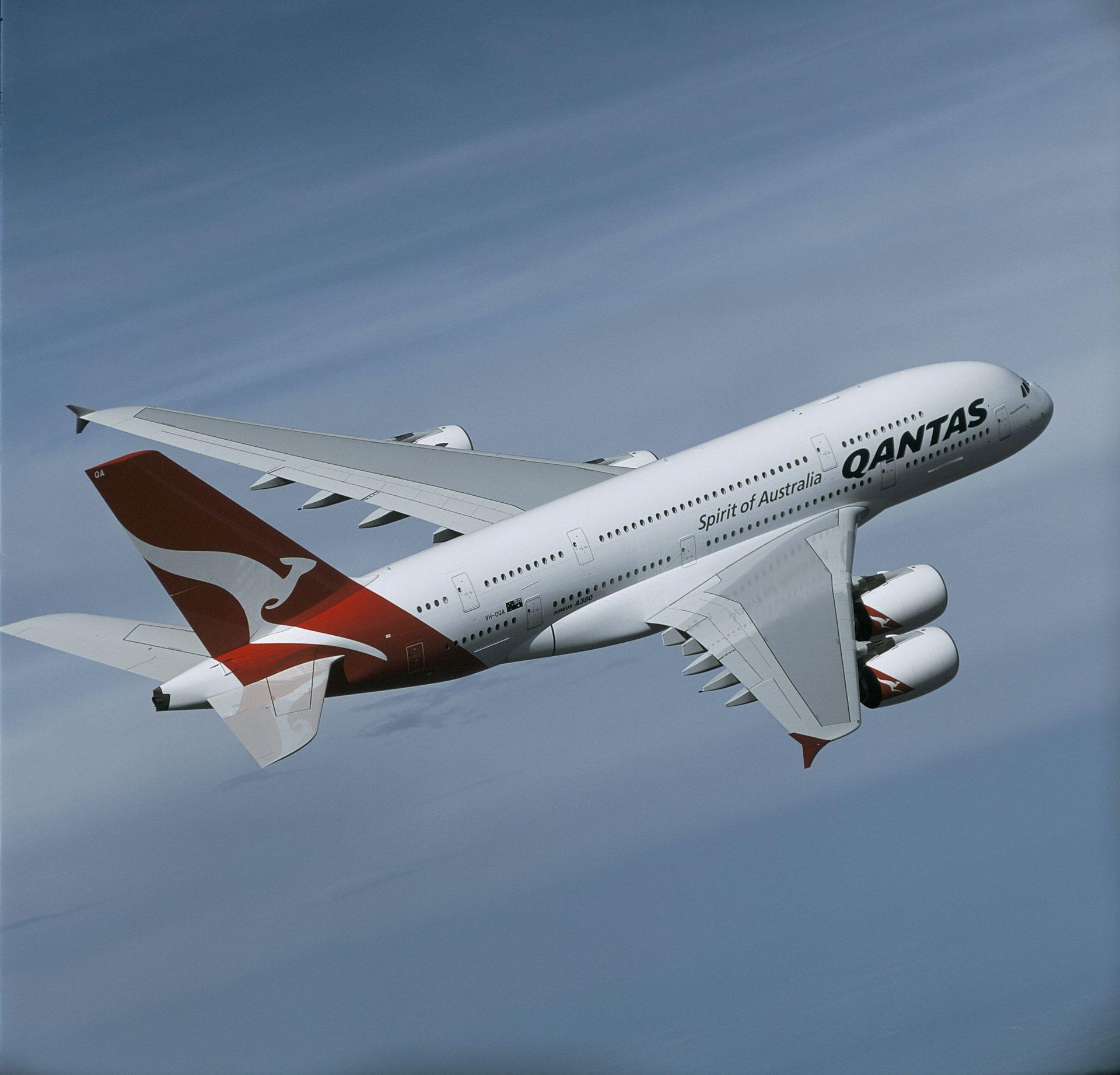 A380 QFA in flight