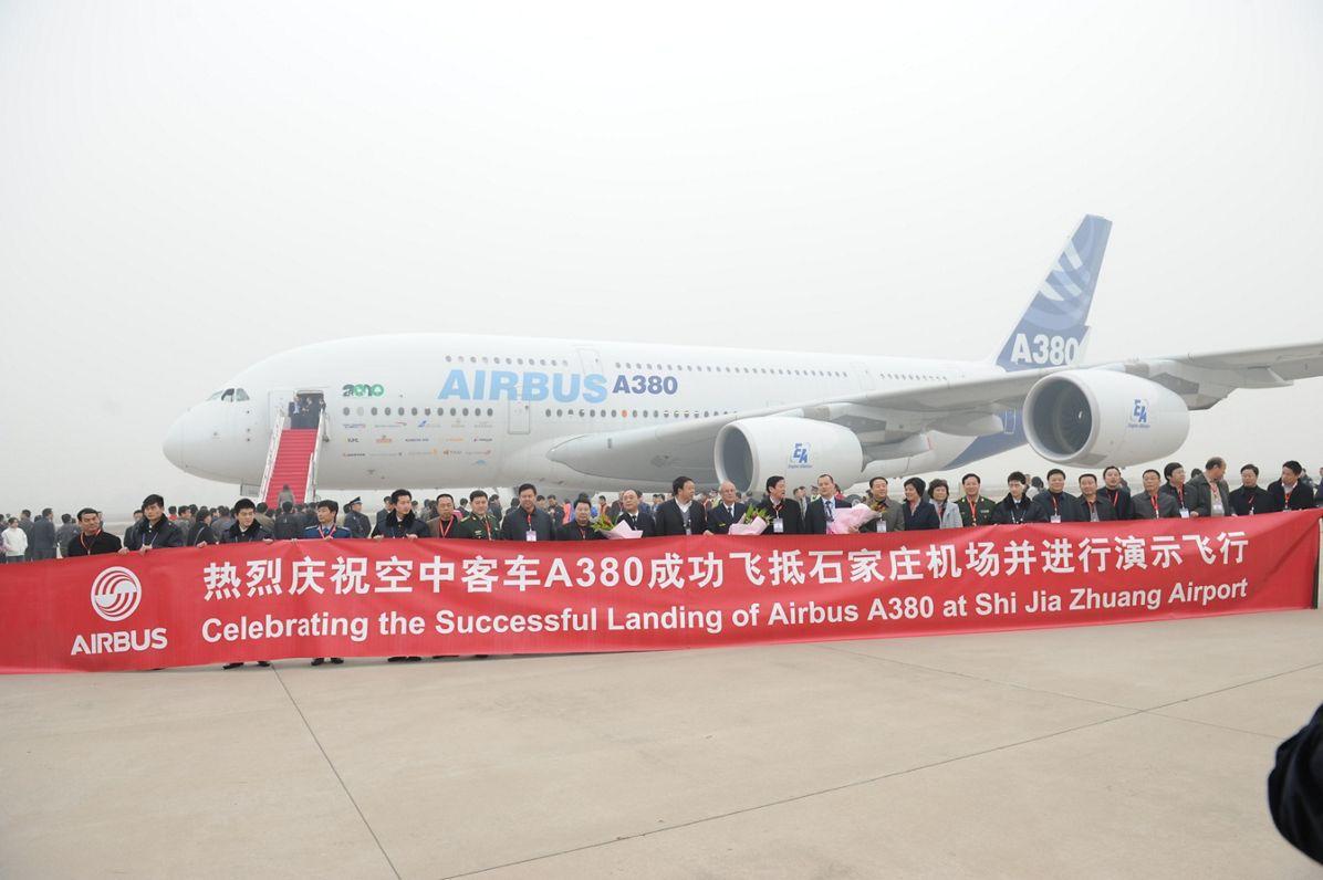 A380 Shijiazhuang airport