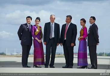 A380 THAI delivery group JBA