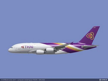 A380 THAI in flight