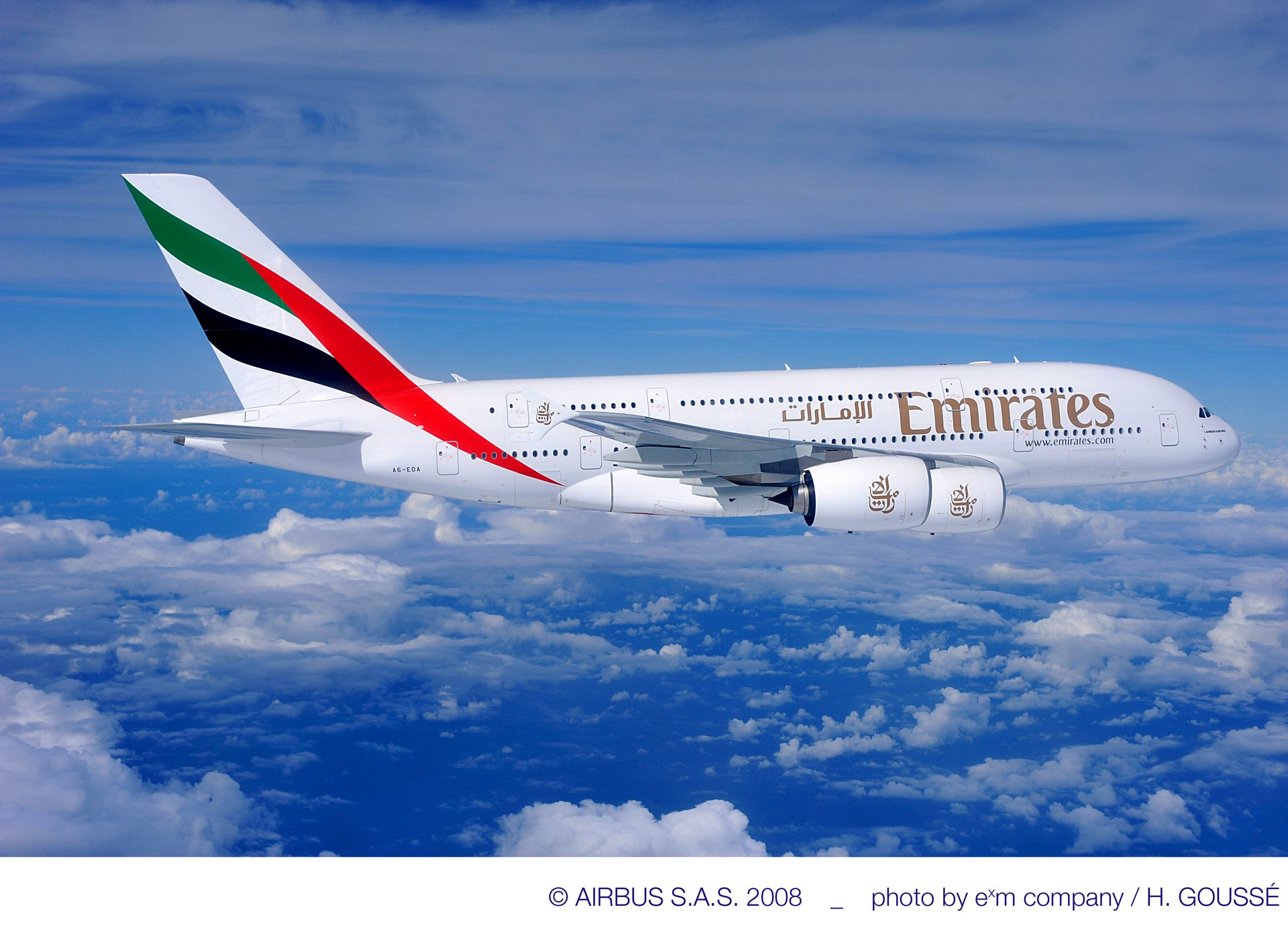 A380 UAE in flight