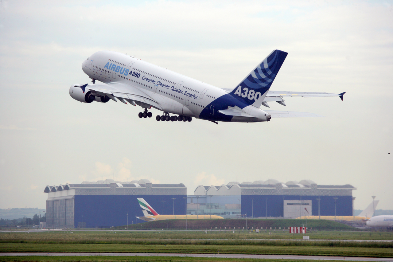 A380 at take off