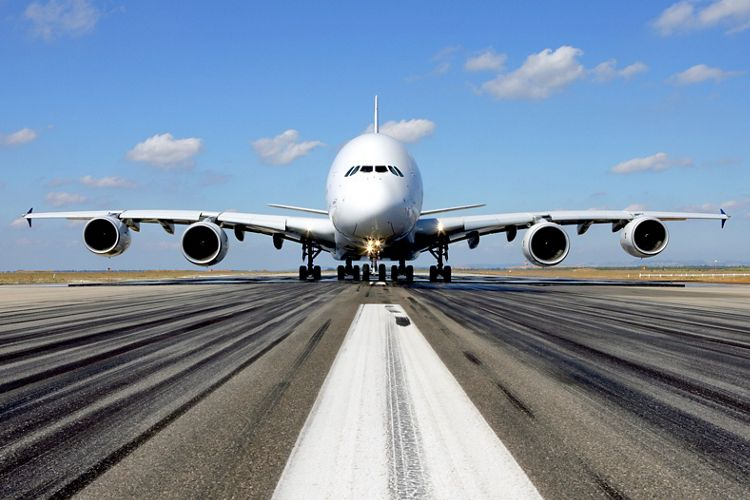 A380 on ground front shot