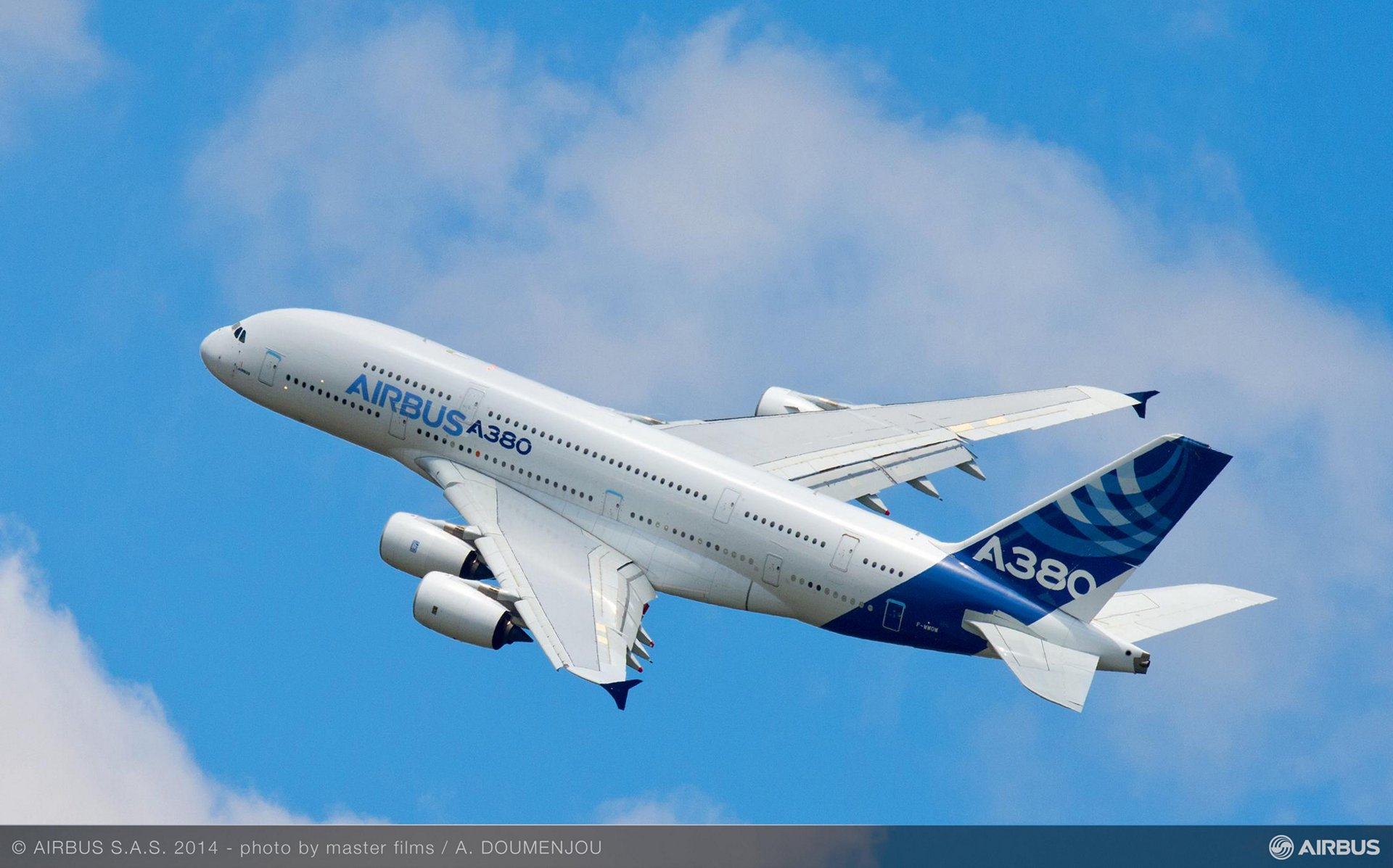 A380 take off airbus livery