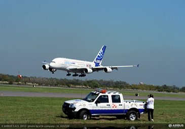 A380 tour Buenos Aires landing