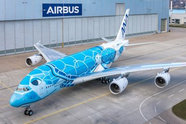 First ANA A380 rolls out of paintshop