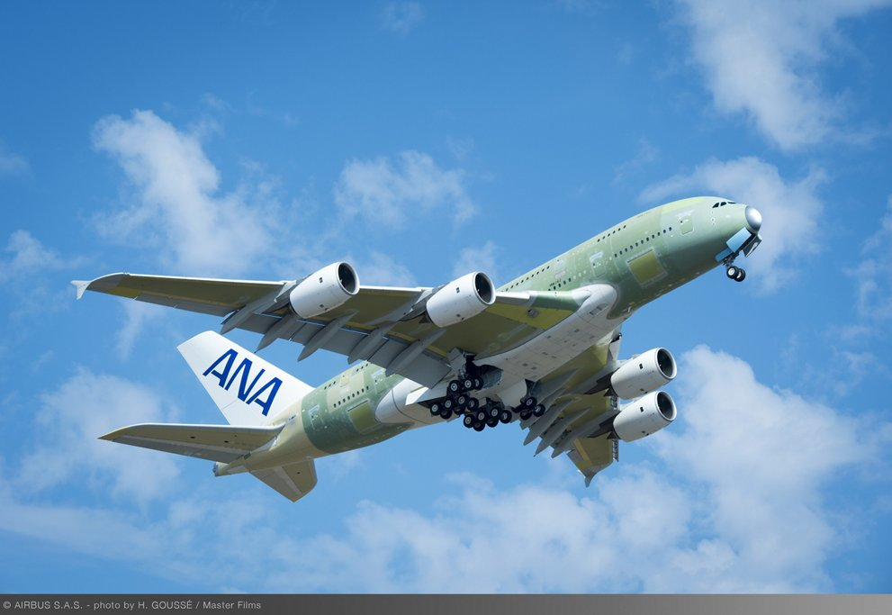 First ANA A380 Take Off 1
