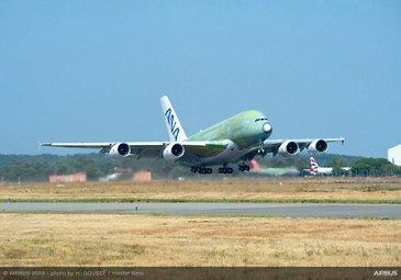 First ANA A380 Take Off