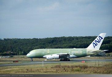 ANA A380 maiden flight – Taxiing