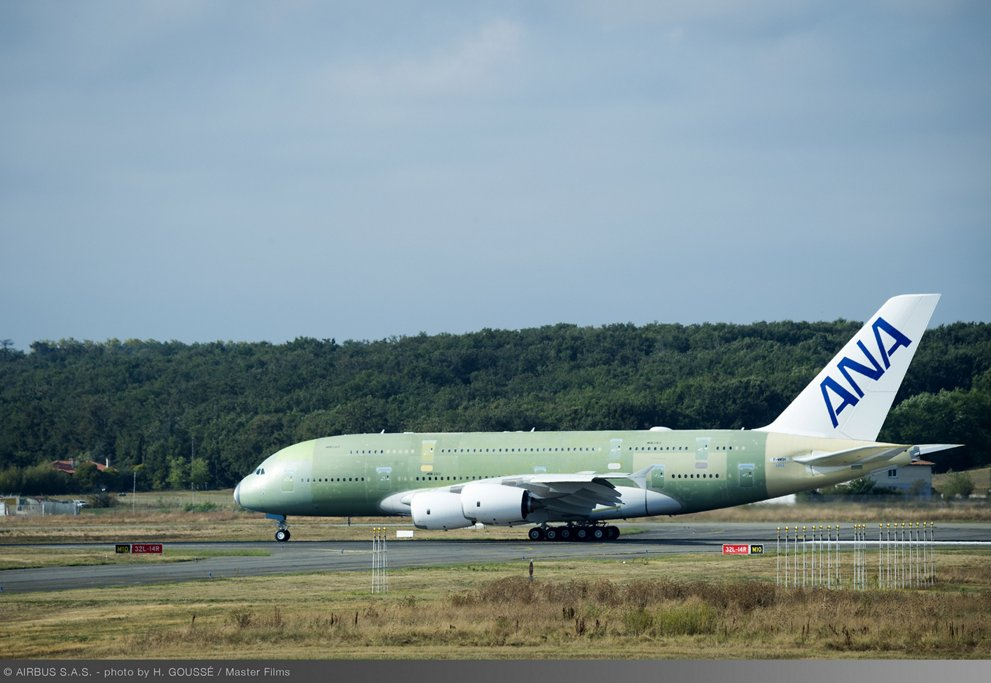 First ANA A380 Taxiing