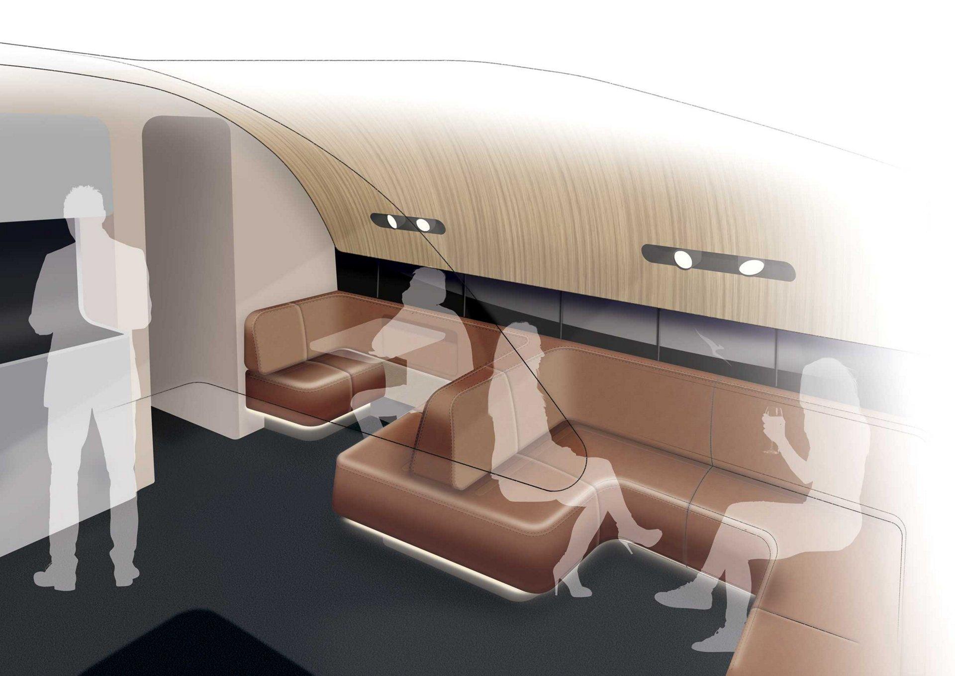 Qantas A380 Cabin Upgrade A380 Inflight Lounge